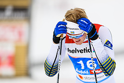 February 21, 2019 - Seefeld In Tirol, AUSTRIA - 190221 Oskar Svensson of Sweden looks dejected after competing in men's cross-country skiing sprint semi final during the FIS Nordic World Ski Championships on February 21, 2019 in Seefeld in Tirol..Photo: Joel Marklund / BILDBYRN / kod JM / 87880 (Credit Image: © Joel Marklund/Bildbyran via ZUMA Press)