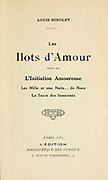 Title page from Les ilots d'amour [The Islands of Love] by Sonolet, Louis, 1874-1928 Published in Paris in 1911
