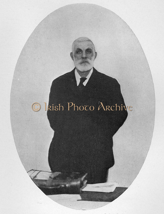 John Burns (1858-1943) the first representative of the Labour party in the British Cabinet.  Lord Morley and Mr Burns were opposed to Great Britain's entering the war and resigned their places in the British Cabinet on August 5, 1914.