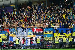 Fans of Ukraine during the UEFA EURO 2016 Play-off for Final Tournament, Second leg between Slovenia and Ukraine, on November 17, 2015 in Stadium Ljudski vrt, Maribor, Slovenia. Photo by Urban Urbanc / Sportida
