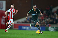 Gabriel Jesus of Manchester City in action. Premier league match, Stoke City v Manchester City at the Bet365 Stadium in Stoke on Trent, Staffs on Monday 12th March 2018.<br /> pic by Andrew Orchard, Andrew Orchard sports photography.