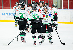 Ken Ograjensek and other players of Olimpija after the ice hockey game between Team Jesenice and HDD Telemach Olimpija in 1st leg of Finals of Slovenian National Championship 2014, on March 31, 2014 in Arena Podmezakla, Jesenice, Slovenia. Photo by Vid Ponikvar / Sportida