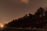 Kerhonkson, New York - Stars shine in the night sky in a view from the scenic overlook on Route 44-55 on March 17,  2015.