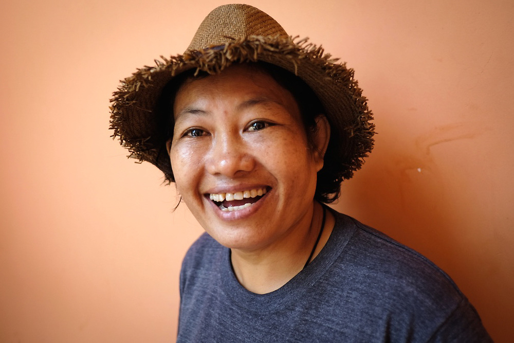 Portrait of Noung Khoy, 42 years old eco-tour guide from Siem Reap, Cambodia. <br /> Photo by Lorenz Berna