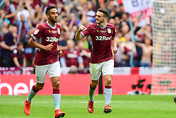 May 27, 2019 - London, England, United Kingdom - JohnMcGinn (7) of Aston Villa celebrates after scoring a goal to make it 2-0 during the Sky Bet Championship match between Aston Villa and Derby County at Wembley Stadium, London on Monday 27th May 2019. (Credit: Jon Hobley | MI News) (Credit Image: © Mi News/NurPhoto via ZUMA Press)