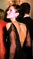 Model SOPHIE ANDERTON fiance of the Hon.Robert Hanson, at a dinner in London on 23rd October 1998.MLD 85