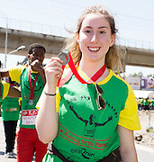 22/11/2015  repro fee. A group of  irish people travelled with Gorta-Self Help Africa travelled to the capital of Ethiopia Addis Ababa for the great Ethiopian run. In temperatures in the mid 30 degree heat and 40,000 people and a city at 7,500 feet above sea level, it's no mean feat. Anna Finnegan from Galway finish the race in a great time    .  Photo:Andrew Downes.