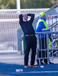Falkirk's manager Ray McKinnon. Falkirk 0 v 2 Dundee United, Scottish Championship game played 22/9/2018 at The Falkirk Stadium.