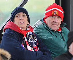 Spectators at the FA Cup fourth round match between Bristol City Women and Yeovil Town Ladies at Stoke Gifford Stadium on 28 February 2016 in Bristol, England - Mandatory by-line: Paul Knight/JMP - Mobile: 07966 386802 - 28/02/2016 -  FOOTBALL - Stoke Gifford Stadium - Bristol, England -  Bristol City Women v Yeovil Town Ladies - FA Cup fourth round