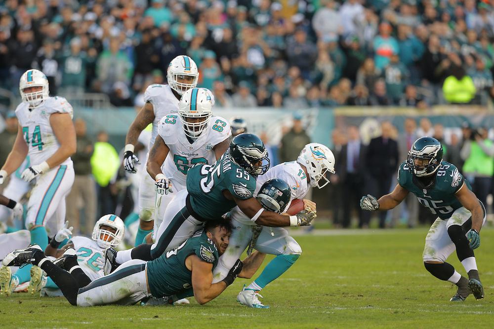 Connor Barwin; Miami Dolphins vs Philadelphia Eagles at Lincoln Financial Field, Salute to Service on November 15, 2015.