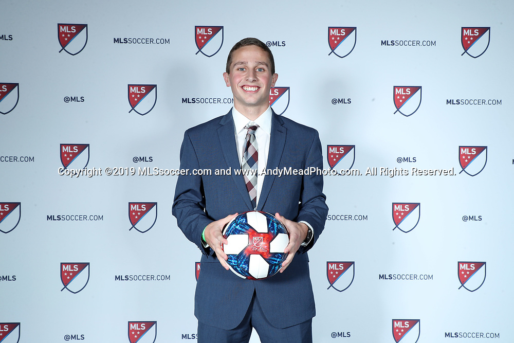 CHICAGO, IL - JANUARY 11: Rece Buckmaster was taken with the 32nd overall pick by the New York Red Bulls. The MLS SuperDraft 2019 presented by adidas was held on January 11, 2019 at McCormick Place in Chicago, IL.