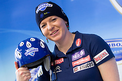 Marusa Ferk, alpine skier during press conference with her new sponsor Cambozola cheese after World Cup season 2011/2012, on March 19, 2012, in Kristalna palaca, BTC, Ljubljana, Slovenia. (Photo by Vid Ponikvar / Sportida.com)