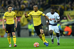 February 13, 2019 - London, England, United Kingdom - Borussia Dortmund defender Abdou Diallo in action during the UEFA Champions League match between Tottenham Hotspur and Ballspielverein Borussia 09 e.V. Dortmund at Wembley Stadium, London on Wednesday 13th February 2019. (Credit: Jon Bromley | MI News & Sport Ltd) (Credit Image: © Mi News/NurPhoto via ZUMA Press)
