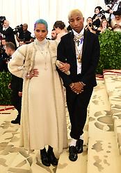 Helen Lasichanh and Pharrell Williams attending the Metropolitan Museum of Art Costume Institute Benefit Gala 2018 in New York, USA.