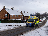 Ambulance out in snow  stratford upon Avon  Photo by Mark Anton Smith