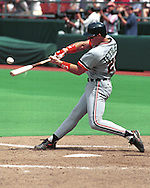 Detroit Tiger Mickey Tettleton during game action against the Kansas City Royals at Kauffman Stadium in Kansas City, Missouri in 1993.