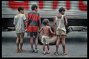 """Street Children in São Paulo, Brazil - """"Where Little Children Suffer"""" THE OBSERVER MAGAZINE (UK)"""