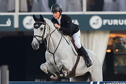 Graham Amy (AUS) - Bella Baloubet<br /> Final First Competition<br /> Furusiyya FEI Nations Cup™ Final - Barcelona 2014<br /> © Dirk Caremans<br /> 09/10/14