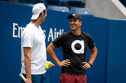 August 21, 2019, New York, NEW YORK, USA: Team Vekic during practice at the 2019 US Open Grand Slam tennis tournament (Credit Image: © AFP7 via ZUMA Wire)