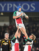 Wycombe, GREAT BRITAIN,   Harlequins', George ROBSON, during the London Wasps vs Harlequins match, at Adam's Park Stadium, Bucks on Sun 04.01.2009. [Photo, Peter Spurrier/Intersport-images]