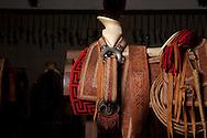 Charreria horseback riding saddle - details