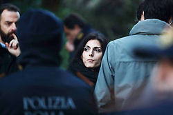 Italy, Rome - November 20, 2018 .Anti Mafia police operation.600 policemen confiscated eight luxury villas illegally built in Rome by alleged mobsters clan Casamonica.Here Virginia Raggi,  mayor of Rome (Credit Image: © Roma/Giacomino/Ropi via ZUMA Press)