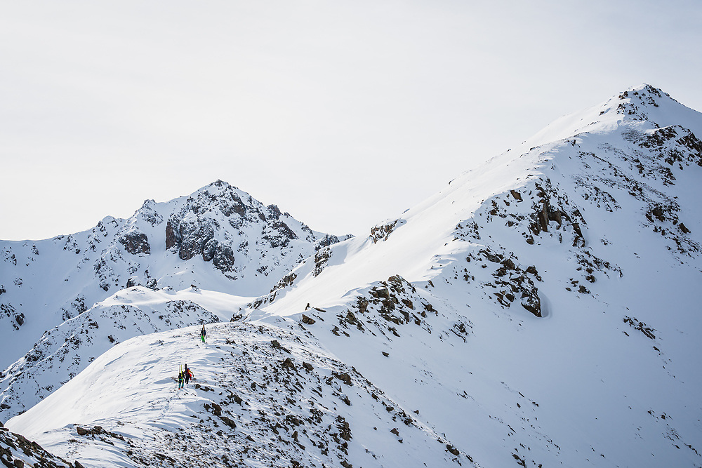 Stacy Bare, Kasidin Musaev, and Ronnie Grozdanovic explore the wild mountains above Jyrgalan, KG.