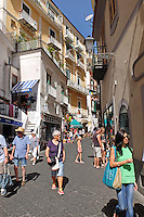 GV, Amalfi, Italy, narrow street, narrow alley, September, 2015, 2015091602<br /> <br /> Copyright Image from Victor Patterson, 54 Dorchester Park, Belfast, UK, BT9 6RJ<br /> <br /> t1: +44 28 9066 1296<br /> t2: +44 28 9002 2446<br /> m: +44 7802 353836<br /> e: victorpatterson@me.com<br /> <br /> www.victorpatterson.com<br /> <br /> IMPORTANT: Please see my Terms and Conditions of Use at www.victorpatterson.com