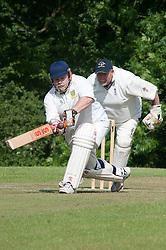 Cricket Whiston Meths V Kilnhirst.Whiston Methodists Batsman Ken Ingram.121040  Whiston Meths Vs Kilnhirst ..30 June 2012.Image © Paul David Drabble