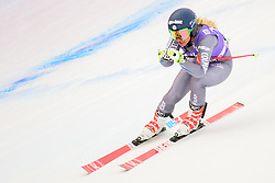 January 19, 2018 - Cortina D'Ampezzo, Dolimites, Italy - Jennifer Pio tof France competes  during the Downhill race at the Cortina d'Ampezzo FIS World Cup in Cortina d'Ampezzo, Italy on January 19, 2018. (Credit Image: © Rok Rakun/Pacific Press via ZUMA Wire)