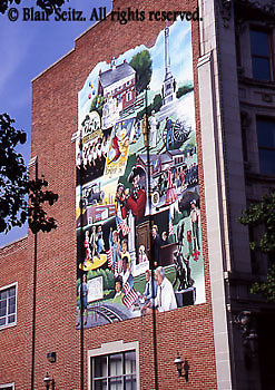 Historic York, PA, Outdoor Murals, Painting by C. Michael