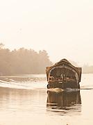 A houseboat barge in the Kerala Backwaters, near Alappuzha, India