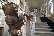 Torino Lo Scalone marmoreo di Palazzo Madama