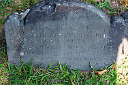 The oldest gravestone in Copp's Hill burial ground. This is located on part of the Freedom Trail.
