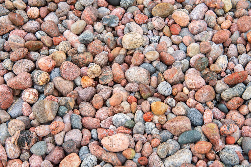 Shoreline pebbles atAgawa Bay, Lake Superior Provincial Park, Ontario, Canada