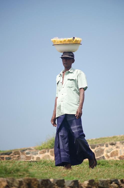 Portrait of a fruit seller, Galle Fort, Sri Lanka