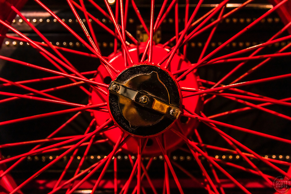 """""""Parts From The Past 7"""" - Abstract photograph of automobile parts, shot with special permission at the National Automobile Museum in Reno, Nevada. <br /> <br /> Available as prints but not as stock photography."""