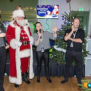 NLD/Amsterdam/20181206 - Sky Radio's Christmas Tree For Charity, Danny Blind en Minke Booij en de kerstman en Paulin Huizinga