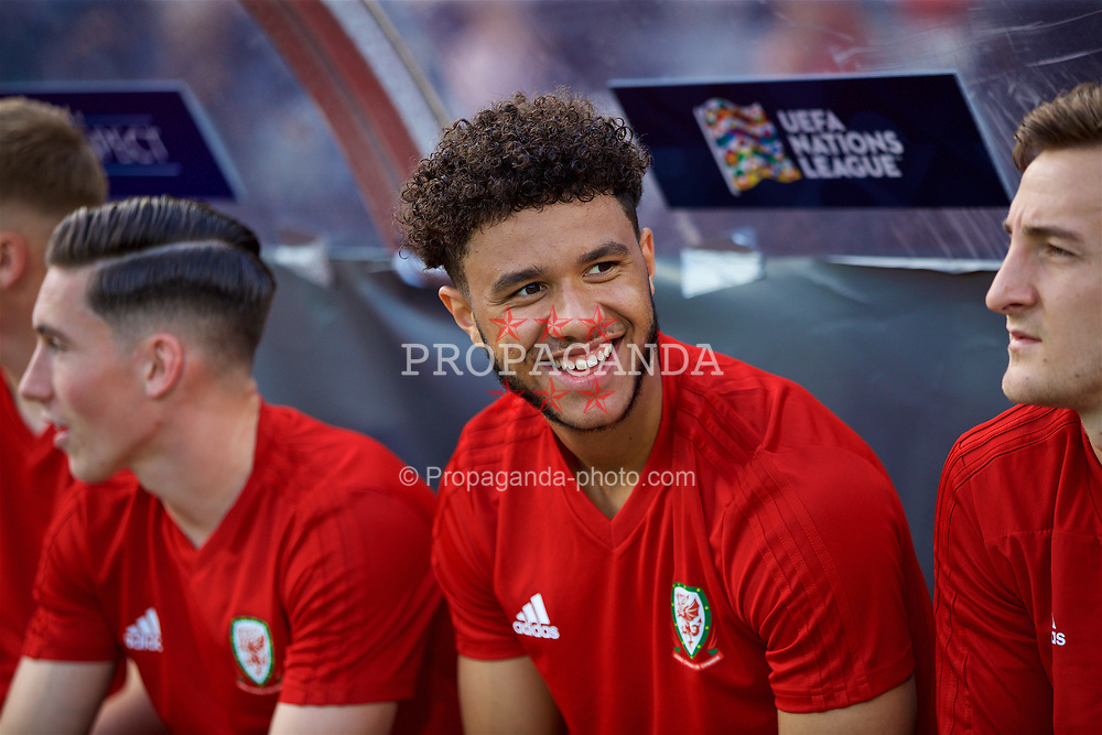 AARHUS, DENMARK - Sunday, September 9, 2018: Wales substitute Tyler Roberts during the UEFA Nations League Group Stage League B Group 4 match between Denmark and Wales at the Aarhus Stadion. (Pic by David Rawcliffe/Propaganda)