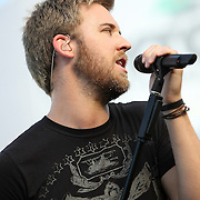 Lady Antebellum including Hillary Scott, Charles Kelley and Dave Haywood perform at the Nascar Coke 400 race in Daytona Florida.