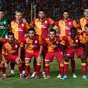Galatasaray's team group Back Row (L-R) Fernando Muslera, Semih Kaya, Burak Yilmaz, Hakan Balta, Johan Elmander, Front Row (L-R) Hamit Altintop, Engin Baytar, Selcuk inan, Emre Colak, Emmanuel Eboue, Tomas Ujfalusi during their Friendly soccer match Galatasaray between SS Lazio at the Ataturk stadium in izmir Turkey on Saturday 04 August 2012. Photo by TURKPIX