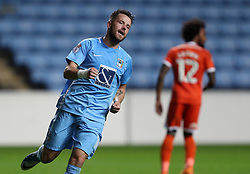 Coventry City's Marc McNulty celebrates scoring his side's second goal of the game