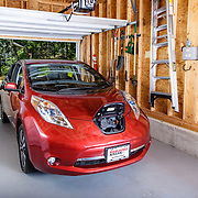 Nissan Leaf, photographed for National Grid and their Worcester Sustainability Hub.