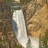 Lower Yellowstone Falls on Yellowstone River, Yellowstone National Park, Wyoming