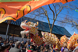 "United States, Washington, Seattle. Chinese New Year celebration in Seattle's ""International District"", traditional home of the city's Asian community."