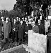 Charles J haughey attends the annual Sean Moylan commemoration in April 1970..Seán Moylan (19 November 1888 - 16 November 1957) was a Commandant of the Irish Republican Army and later a Sinn Féin and Fianna Fáil politician. After the Irish War of Independence he also served under Taoiseach Éamon de Valera as Minister for Lands (1943-48), Minister for Education (1951-54) and Minister for Agriculture (1957)..Photo:-macmonagle.com archive
