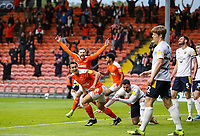 Blackpool's Kenny Dougall celebrates scoring his side's second goal  <br /> <br /> Photographer Alex Dodd/CameraSport<br /> <br /> The EFL Sky Bet League One Play-Off Semi-Final 2nd Leg - Blackpool v Oxford United - Friday 21st May 2021 - Bloomfield Road - Blackpool<br /> <br /> World Copyright © 2021 CameraSport. All rights reserved. 43 Linden Ave. Countesthorpe. Leicester. England. LE8 5PG - Tel: +44 (0) 116 277 4147 - admin@camerasport.com - www.camerasport.com