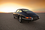 Lots of Room to Roam for a Slate Gray 1966 Porsche 911, Dry Lake Bed in the Mojave Desert, California, American Southwest by Randy Wells