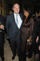 The EARL OF DARTMOUTH and MALA LINDSAY at the engagement party of Vanessa Neumann and William Cash held at 16 Westbourne Terrace, London W2 on 15th April 2008.<br />