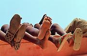Feet at an event in Podor Senegal